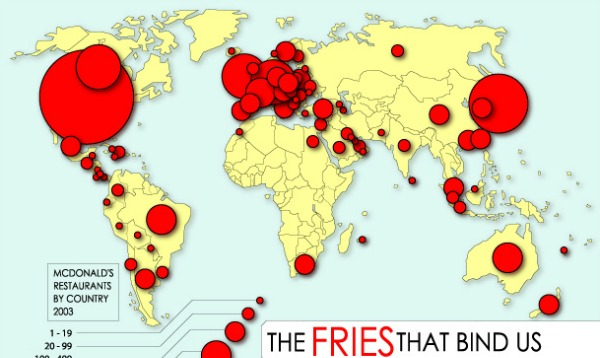 Fast food map Which countries have no McDonalds and why