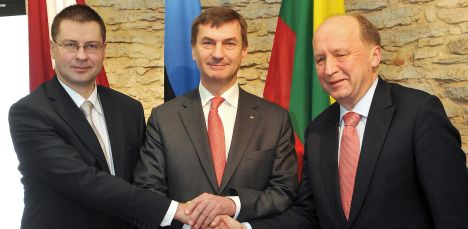 Baltic news, News from Latvia, BNN-NEWS.COM, BNN-NEWS.RU, Latvian Prime Minister Valdis Dubrovskis, Estonian Prime Minister Andrus Ansip and Lithuanian Prime Minister Andrius Kubilius