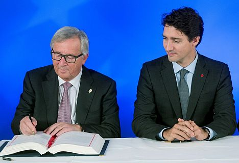 Eu And Canada Sign Unblocked Free Trade Agreement Baltic News