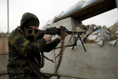 In the Donbas War still raging in eastern Ukraine an Easter truce has been breached in 20 instances during the past day and night to April 3.