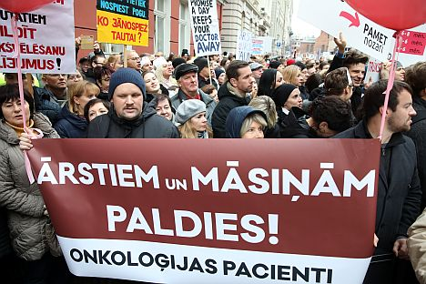 trade union, doctors, budget 2020, government, Latvia, protest