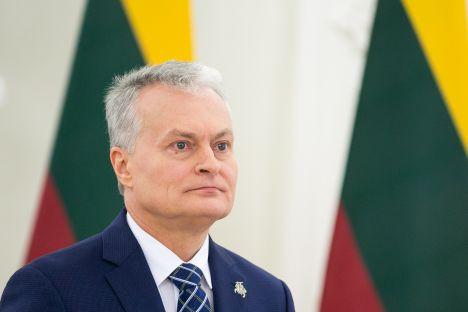 Vilius Šapoka, President Gitanas Nausėda, Lithuania banking