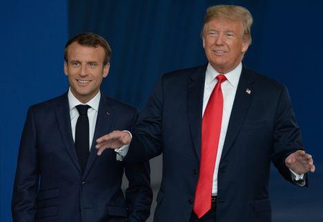Emmanuel Macron, Donald Trump, NATO