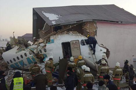 Almaty, Nur-Sultan, plane crash