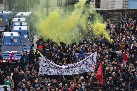 France, pension reform, Emmanuel Macron, protests