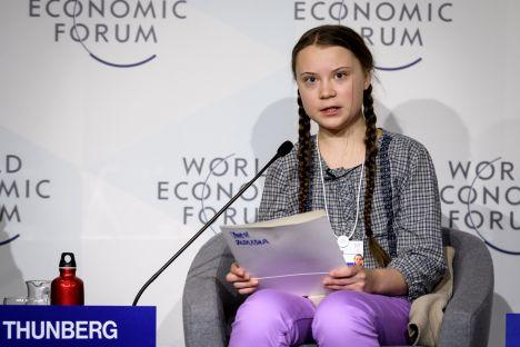 Greta Thunberg, Donald Trump, climate change, Davos, economic forum