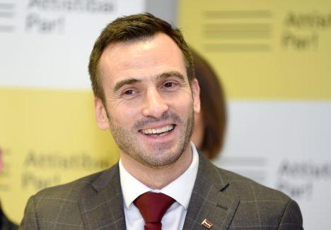 Mārtiņš Staķis, Attīstībai/Par!, snap elections, Riga, Saeima, Latvia