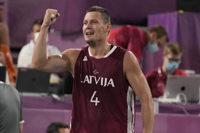 Basketbols 3x3, Agnes Savars, Edgar Kermic, Carles Lasmanes, Nauris Mises, Olimpiskās spēles, Tokija 2020, zelta medaļa