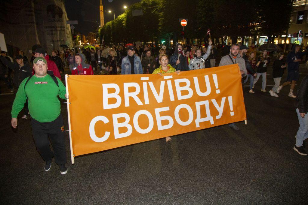 18. augusta protests, Covid-19, Covid-19 liecība, protests, obligātā vakcinācija, policija, Rīga, nemieri